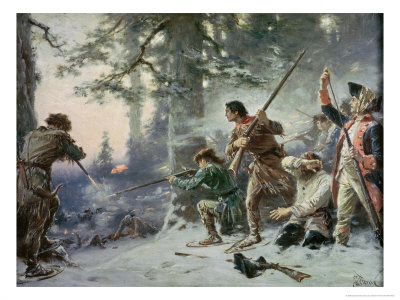 Battle of Roger's Rock Giclee Print by Jean Leon Gerome Ferris