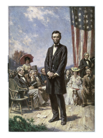 The Gettysburg Address Giclee Print by Jean Leon Gerome Ferris