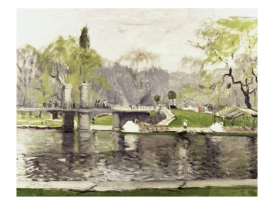 Boston Commons Lámina giclée