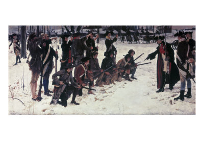 Baron Von Steuben Drilling Troops at Valley Forge Giclee Print