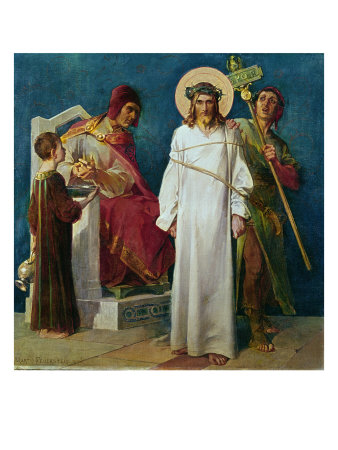 Jesus Condemned to Die Giclee Print by Martin Feuerstein