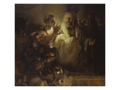 Denial of St. Peter Giclee Print by  Rembrandt van Rijn