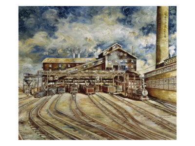 Bituminous Coal Preparation Plant Giclee Print by Lawrence Whitaker