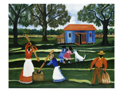 Rice Beater Giclee Print by Anna Belle Lee Washington
