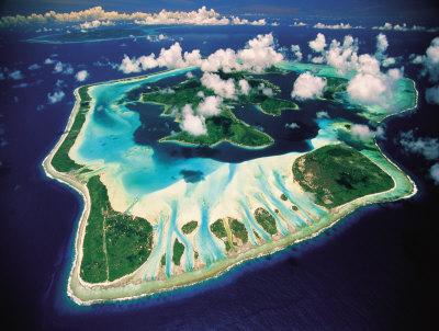Aerial View, Bora Bora, French Polynesia Kunsttryk