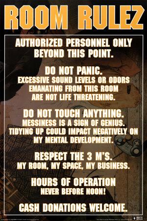 Room Rulez Plakát
