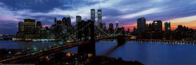 New York Skyline at Night Print
