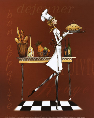 Sassy Chef I Art Print