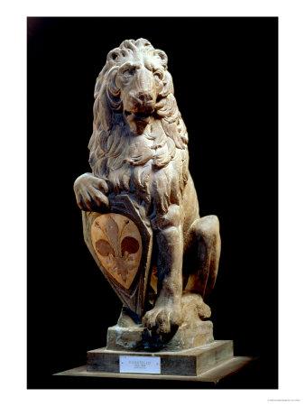Heraldic Lion, 1420 Premium Giclee Print by  Donatello