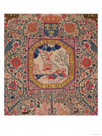 Handknitted Carpet Depicting Jacob's Dream, Alsace, 1781 Giclee Print