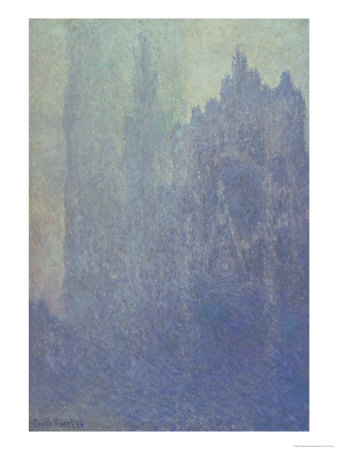 Rouen Cathedral, Foggy Weather, 1894 Premium Giclee Print by Claude Monet