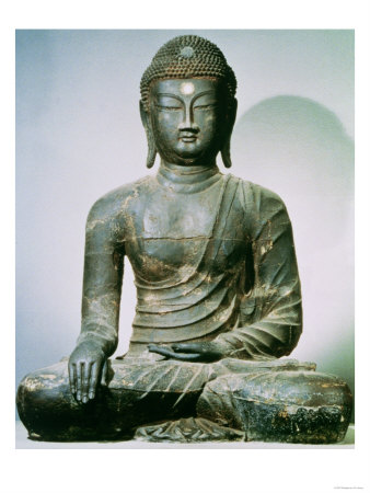 Seated Sakyamuni Buddha from Ch'Ungung-Ni, 10th Century reproduction procd gicle