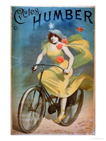 "Advertising for ""Humber Cycles"" Premium Giclee Print by Jules Chéret"