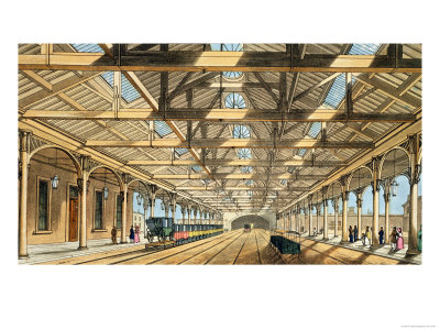 New Station, Lime Street, Entrance to the Tunnel and Booking Offices Giclee Print