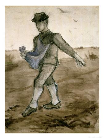 The Sower, c.1881 Premium Giclee Print by Vincent van Gogh