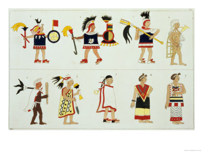 Montezuma II as Represented in an Anonymous Codex in the Vatican Giclee Print
