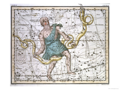 Ophiuchus or Serpentarius, from