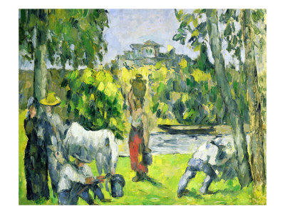 Life in the Fields, circa 1875 Premium Giclee Print by Paul Cézanne