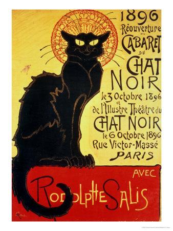 Reopening of the Chat Noir Cabaret, 1896 Giclée-Premiumdruck von Théophile Alexandre Steinlen