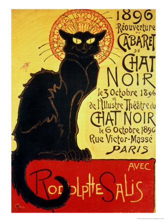 Reopening of the Chat Noir Cabaret, 1896 Premium Giclee Print by Théophile Alexandre Steinlen