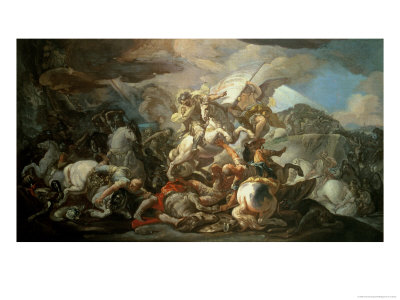 The Legendary Battle of Clavijo, in Which Asturian King Ramiro I Defeated the Muslims Giclee Print by Corrado Giaquinto