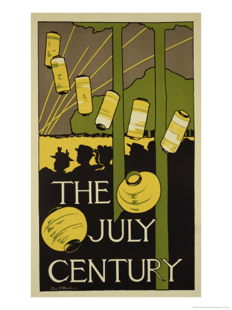 """Reproduction of a Poster Advertising the July Edition of """"Century Magazine,"""" Published in New York Giclee Print by Charles Herbert Woodbury"""