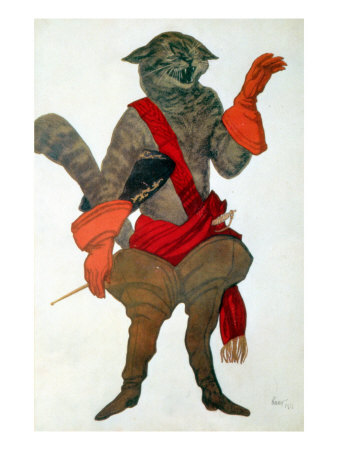 Puss in Boots, from Sleeping Beauty, 1921 Premium Giclee Print by Leon Bakst