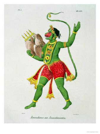 Hanuman Premium Giclee Print by A. Geringer
