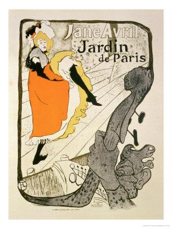 """Reproduction of a Poster Advertising """"Jane Avril"""" at the Jardin De Paris, 1893 Premium Giclee Print by Henri de Toulouse-Lautrec"""
