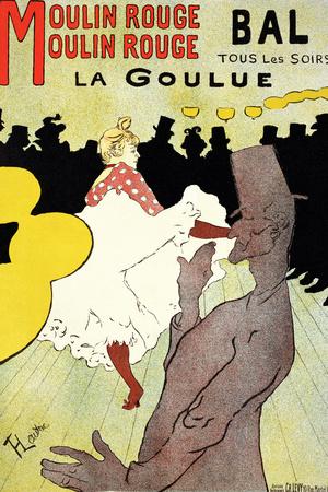 """Reproduction of a Poster Advertising """"La Goulue"""" at the Moulin Rouge, Paris Premium Giclee Print by Henri de Toulouse-Lautrec"""