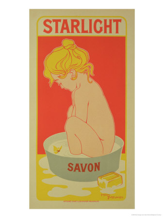 """Reproduction of a Poster Advertising """"Starlight Soap,"""" 1899 Giclee Print by Henri Georges Jean Isidore Meunier"""
