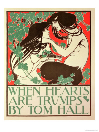 """Reproduction of a Poster Advertising """"When Hearts are Trumps"""" by Tom Hall Premium Giclee Print by William Bradley"""