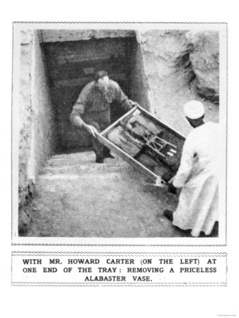 Howard Carter Removing Treasures from the Tomb of Tutankhamun Giclee Print