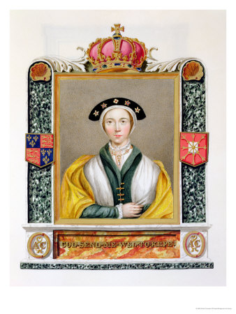 Portrait of Anne of Cleves 4th Queen of Henry VIII from 