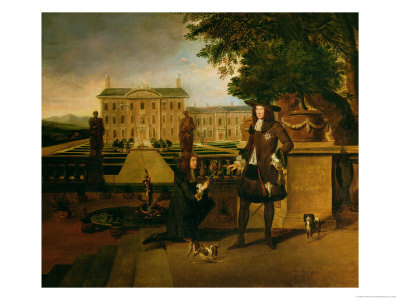 John Rose the King's Gardener, Presenting Charles II with a Pineapple Premium Giclee Print by Hendrick Danckerts