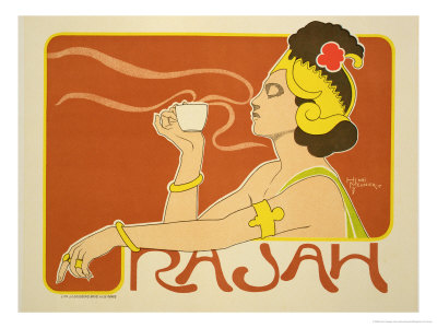 "Reproduction of a Poster Advertising the ""Cafe Rajah,"" 1897 Premium Giclee Print by Henri Georges Jean Isidore Meunier"