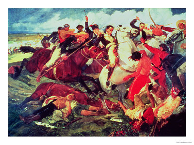 The Battle of Araure, 1828 Premium Giclee Print by Tito Salas