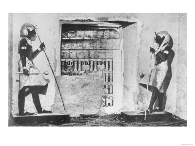 The Secret of Three Thousand Years Revealed: Tutankhamen's Catafalque in the Opened Sepulchre, 1923 Giclee Print