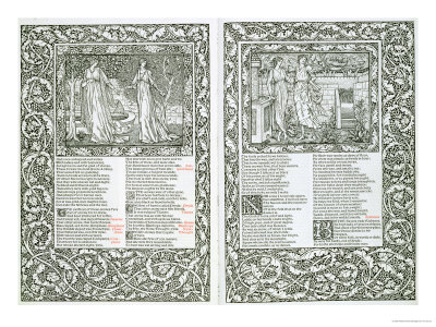Illustrated Page from 'The Works of Chaucer', Published by Kelmscott Press, 1896 Lámina giclée
