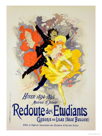 "Reproduction of a Poster Advertising a ""Student Gala Evening"" Premium Giclee Print by Jules Chéret"
