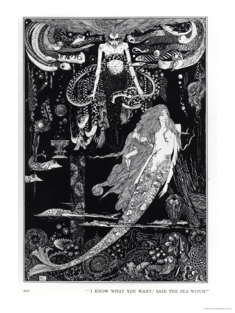 I Know What You Want' Said the Sea Witch Premium Giclee Print by Harry Clarke