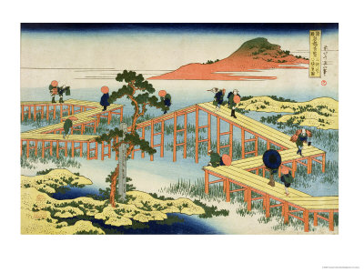 Eight Part Bridge, Province of Mucawa, Japan, circa 1830 Giclee Print