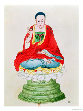 Buddha Seated on a Lotus Flower Giclee Print