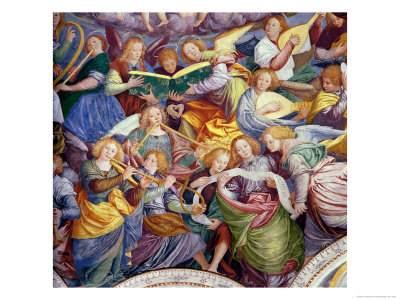 The Concert of Angels, 1534-36 (Detail) Giclee Print by Gaudenzio Ferrari
