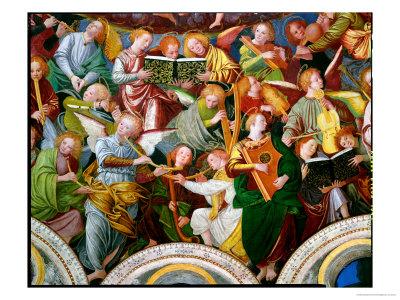 The Concert of Angels, 1534-36 (Detail) Premium Giclee Print by Gaudenzio Ferrari