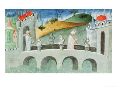 The Bridge over the Lou-Keou, a Province Near Peking Giclee Print by  Boucicaut Master