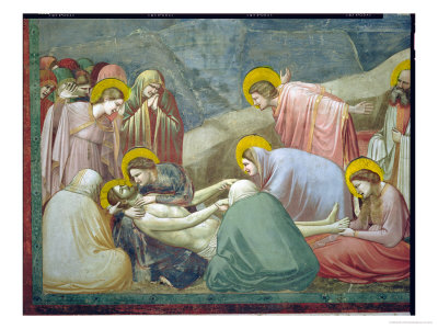 Lamentation over the Dead Christ, circa 1305 (Detail) Giclee Print