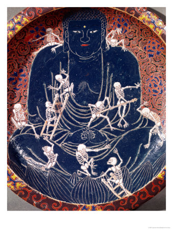 Plate Depicting Buddha with Ten Skeletons (Detail) Premium Giclee Print