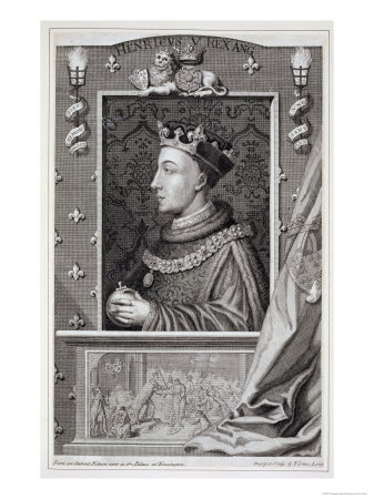 Henry V, after a Painting in Kensington Palace Giclee Print by George Vertue