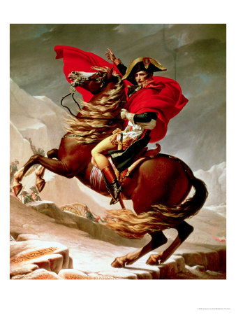 Napoleon Crossing the Alps, circa 1800 Premium Giclee Print by Jacques-Louis David